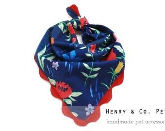 Floral Dog Bandanna- Flower print bandanna- Dog bandanna