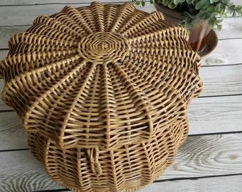 1940s Vintage Make up Basket made in Germany