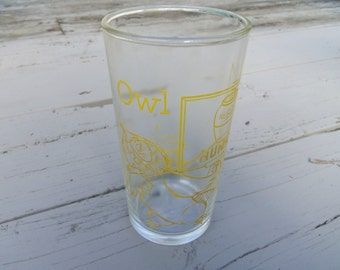 Walt Disney and The Honey Tree (1966) Tumbler #6 OWL Promotional from Dominon Glass 4.75""