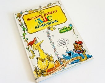 Vintage 1970s Childrens Book / The Sesame Street ABC Storybook 1974 Hc / 26 Short Stories About Each Letter of the Alphabet