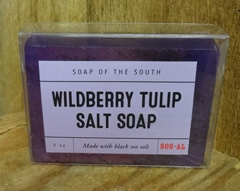 Wildberry Tulips Olive Oil Salt Bar - 5 ounces