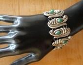 Mexican Silver Bracelet Pre Columbian Links