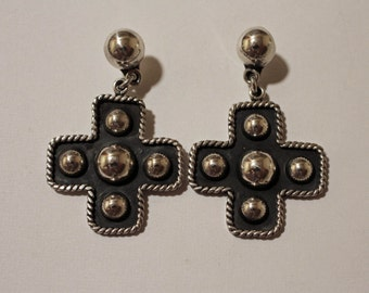 Taxco SIlver Earrings Southwestern Style