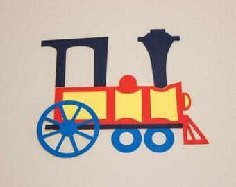 Train Diecut, Set of 6, Red Train, Paper Train, Train Party