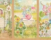 In the Garden Girls Gardening Blend Cori Dantini Cotton Fabric Panel
