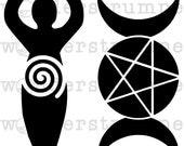 Modern Mystic Stencil Series: Goddesses