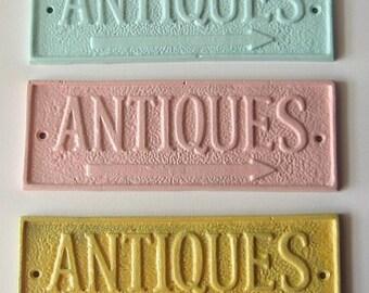 Choose your color Cast Iron Antique Sign/ Home Decor/ Wall Decor Plaque,Antique Store Sign
