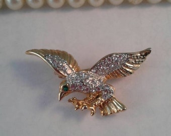 Vintage Bird Brooch,Eagle Brooch,Military,USA