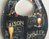 SALE Navy Blue Craft Beer Growler Baby Bib 233466846