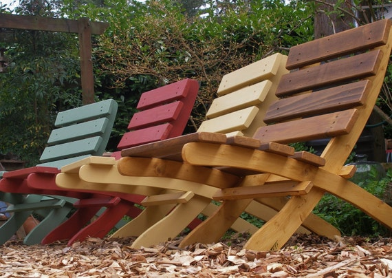 Great Outdoor Chairs for Fall!   Set of 4 Comfy, Storable Cedar Chairs - Save on SPECIAL SET PRICE - Pick Your Favorite From 12 Stain Colors