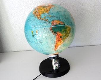 Danish Modern Illuminated Scan Spot Globe,  Vintage circa 1987