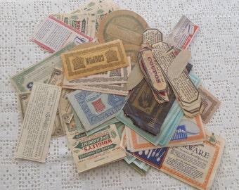 Vintage Paper Ephemera Labels, Coupons, Premiums 110 Pc.