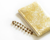 Gold Brocade Zipper Clutch Bridesmaid Bride Wedding Wristlet Clutch Bridal Purse Gift Ideas Handmade Set