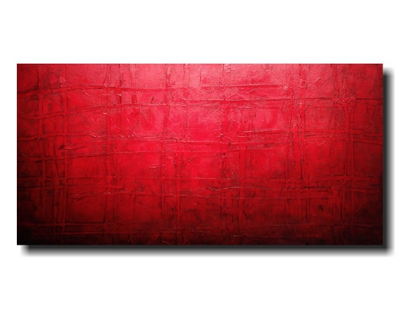 Original Abstract Large painting - 24 X 48  JMJartstudio- Sinful -Wall art-wall decor - painting--custom