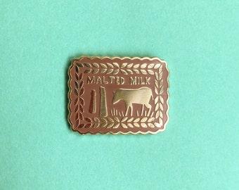 Malted Milk Biscuit Enamel Pin / Pin Badge - Flair - Enamel Badge - Cookie Pin