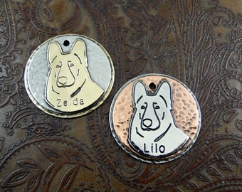 German Shepherd ID Tag-Personalized Dog Breed IDTag-Shepherd Dog Tag-Custom ID Tag