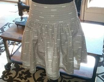 Dropwaist Gray Print Organic Cotton Skirt