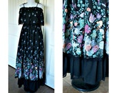 Vintage 70s Candi Jones hippie boho dress - vintage dress, 70s hippie dress, festival dress underskirt