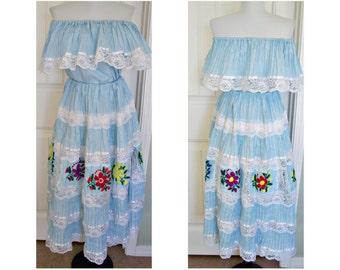 Vintage Mexican fiesta dress
