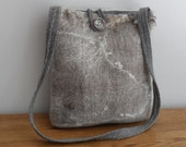 Felted Bag - Natural wool - fully lined