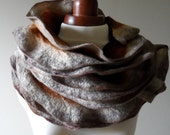 Autumn Felted Collar - Ruffled - Neck Ruff