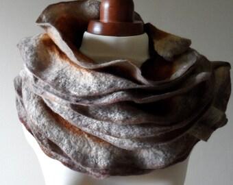 Autumn Felted Collar - Ruffled - Neck Ruff