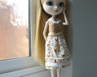 Doll Clothing for Pullip Doll , 25 cm Obitsu Body, Pure Neemo Doll , and Customized Blythe Doll