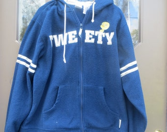 vtg dISNEY STORE  Jerry  Leigh  Tweety bird    hooded jacket     size  large