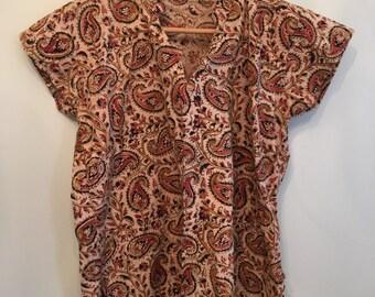 Cotton Bohemian Indian Tunic • Indian Tunic • Vintage Tunic Top • Bohemian Top • Boho Tunic • Indian Hippie Top