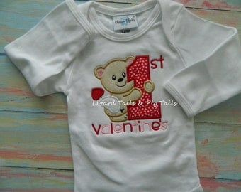 My 1st Valentine's Shirt Boy or Girl Valentine Shirt