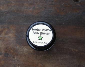 Herbal Mama Belly Butter - Organic Belly Salve - with Shea Butter, Coco Butter, Calendula Flower Oil - Favor - Stocking Stuffer