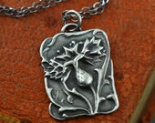 Scottish Thistle Jewelry Outlander Necklace Sterling Silver Inspired Handmade Artisan Jewelry