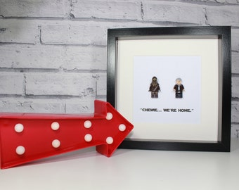 Chewie We're Home - Framed custom minifigures - STAR WARS
