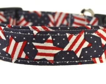 Patriotic Stars - Patriotic Dog Collar