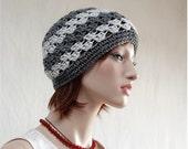 Crochet Beanie,  Womens Hat,  Clochet  Skull Cap,  Womens Teens Accessories,  All Seasons Hat