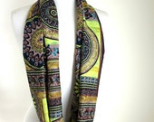 Abstract Design Infinity Scarves - Summer Scarf - Hand made -  Earth - Circular Scarf