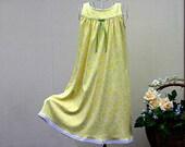 Girls' NIGHTGOWN-Size 6 // 100% Cotton-Knit, Yellow Pajamas, Sleepwear, White Eyelet trim  // mid-weight fabric (9oz) //Ready to Ship
