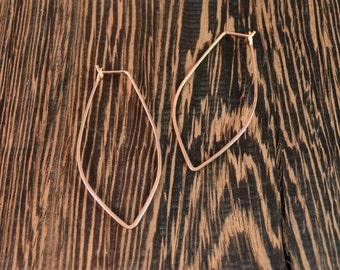 Lotus Hoop Earrings - 14k Rose Gold Fill