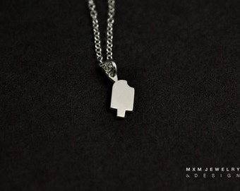Silver or Gold Little Popsicle Necklace