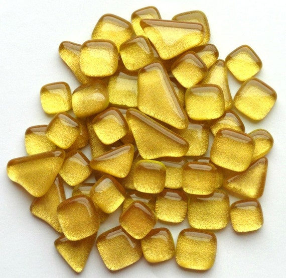 Metallic gold glass mosaic pieces mosaic supplies for Mosaic pieces for crafts