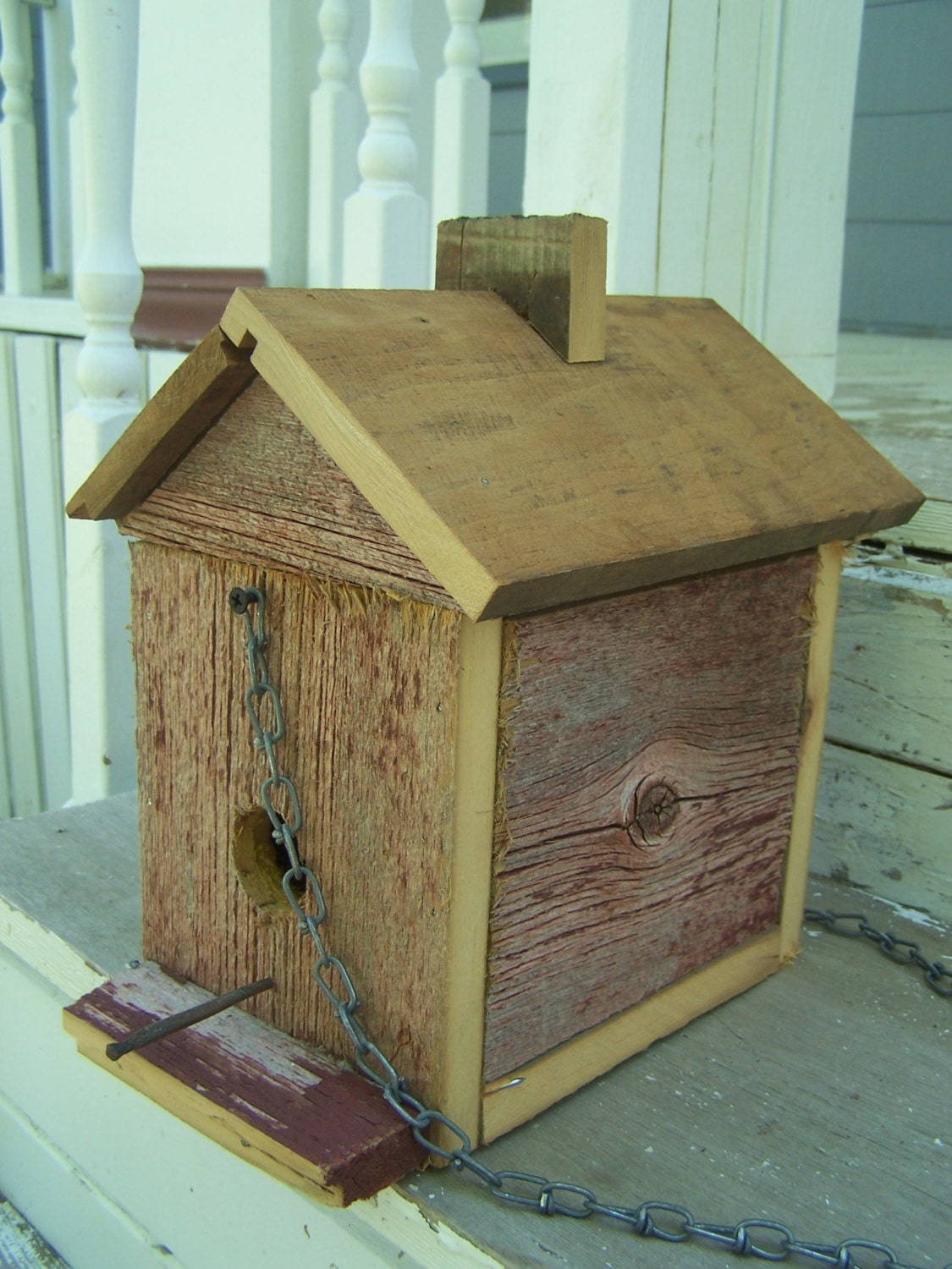 Rustic barn board bird house colonial style by - Old barn wood bird houses ...