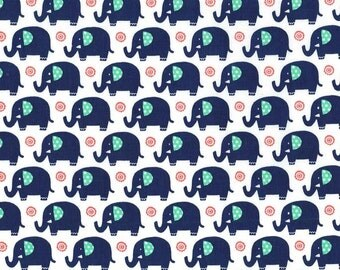 Mini elephants in Sprout by Michael Miller Fabrics - you choose the cut