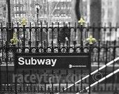 New York City Subway, Black and White New York Photography, Bryant Park, 42nd Street, Gold, NYC Art, NYC Subway