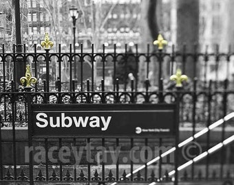 Photo of New York City Subway, Black & White New York Photography, Bryant Park, 42nd Street, Gold, NYC Subway