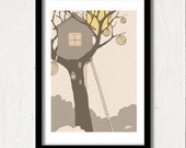 Tree House, Illustration Print