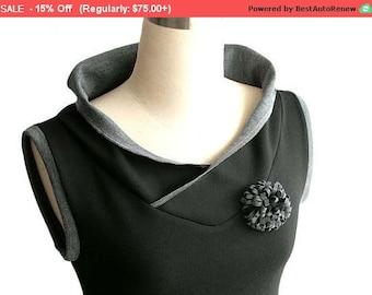 SALE Spring top Vest top. Custom Sleeveless blouse Black hoodie. Sleeveless shirt. Womens top Plus size clothing Hoodie vest