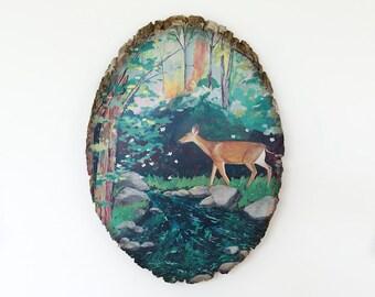 Enchantment // 8 x 10 art print on wood round, medium