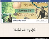 Facebook Cover, Beach Facebook Graphics, Facebook Business Graphics, Green Facebook cover, Facebook Profile, Vintage Flapper Facebook