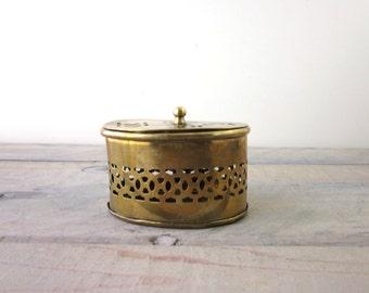 Vintage Brass Cricket Box