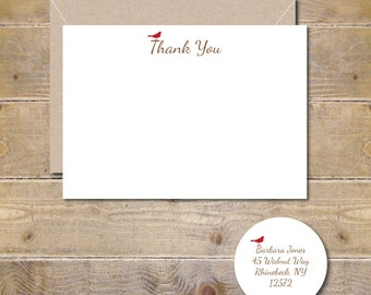 Cardinal Stationery, Bird Stationery, Cardinals, Christmas Thank You Cards, Thank You Notes, Cardinal Note Cards, Thank You Cards, Christmas